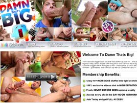 Welcome to Damn Thats Big - monster gay cocks white huge dick porn!