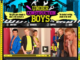 Welcome to Under Construction Boys - guys hard working in gay action!