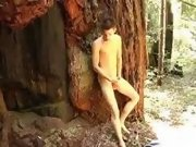 This twink likes jerking in nature