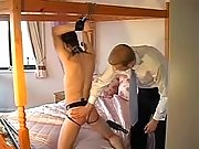 Sex fun with chained n blind slave
